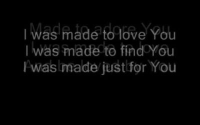 I Was Made to Love…